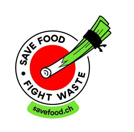 Logo Save Food Fight Waste Lauch mit URL Kulinata